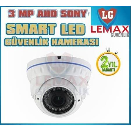 3 MP 1080 P Sony Aptina Dome Guvenlik Kamerası